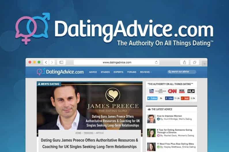 James Preece featured on DatingAdvice.com